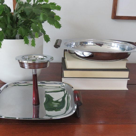 Set of Glo-Hill Serving Dishes, 2 Tier, Platters